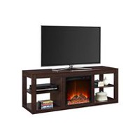 Dorel Parsons TV Console Electric Fireplace Espresso