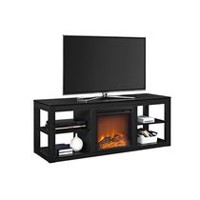 Dorel Parsons TV Console Electric Fireplace Black