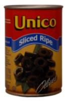 Unico Sliced Black Olives