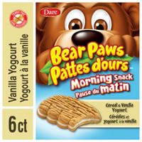Dare Bear Paws Morning Snack Cereal & Vanilla Yogourt Cookies