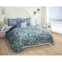 Queen Quilt 3PC Set DQ Caroline Blue Full Safdie /& Co