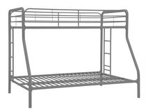 DHP Twin Over Full Metal Bunk Bed Silver