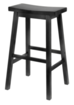 Saddle seat stool Black