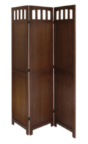 Winsome 94370 3-Panel Wood Folding Screen