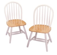 Winsome Windsor Natural Solid Wood Chair White
