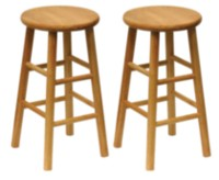 Beveled seat Stools Natural
