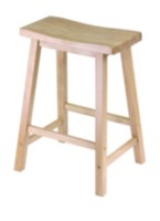 Saddle seat stool Natural