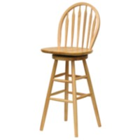 Windsor swivel Stool Natural