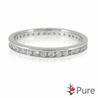 Pure Cubic Zirconia Eternity Ring set in Sterling Silver 8
