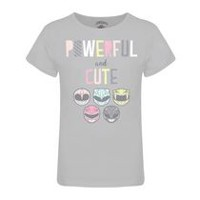 T-shirt « Powerful and cute » de Power Rangers à encolure ras du cou et à manches courtes pour filles TG