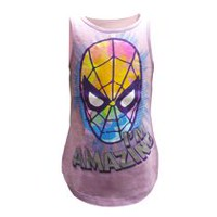 Marvel Classic Girls' Amazing Spidey Muscle Tank Top L