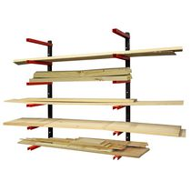 6 Shelf Wood Rack  Organizer