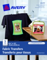 Avery® Ink Jet Dark T-Shirt Transfers