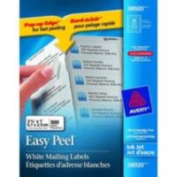 "Avery® Easy Peel® White Address Labels for Inkjet Printers, 1"" x 2-5/8"", Pack of 300"