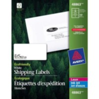 "Avery® White EcoFriendly Mailing Labels,48863, 2"" x 4"", Box of 100"