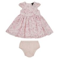 George British Design Baby Girls' Floral Georgette Dress 0-3 months