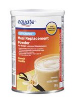 Equate French Vanilla Meal Replacement Powder