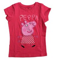 Peppa Pig Girls' Short Sleeve Printed T-Shirt XS