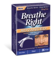 Paq. de 30 grandes bandelettes nasales Breathe Right - havane