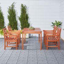 Malibu Outdoor Patio 5-piece Wood Dining Set