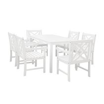 Malibu Outdoor Patio 7-piece Wood Dining Set