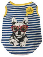PMP Stripe Print Dog T-Shirt
