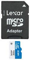 Lexar® High-Performance 64GB microSDXC™ UHS-I cards (300x) with Adapter