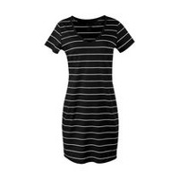 George Women's V-Neck T-Shirt Dress Black Soot XXL