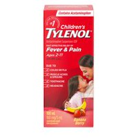 Children's TYLENOL® Oral Suspension 100mL,  Banana Berry Twist Flavour