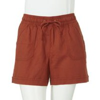 George Women's Linen Blend Shorts Orange XS