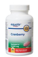 Equate Cranberry, Equivalent to 6,000 mg