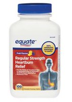 Equate Fruit Flavour Regular Strength Heartburn Relief