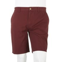 George Men's Chino Short Burgundy 40