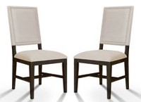 Shermag Monet 2 Upholstered Chairs Set - Cocoa  Finish