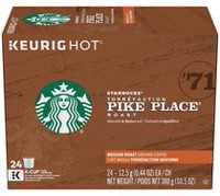 Starbucks Pike Place Medium Roast K-Cup Ground Coffee Pods