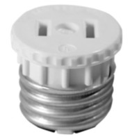 Medium Base Lampholder 15A-125V 2-Pack, in White