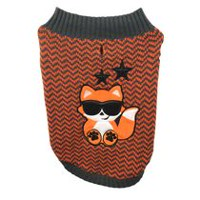Protect Me Alert Series PMP Orange Pattern Jacquard Dog Sweater