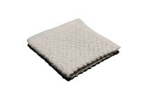 Popcorn Textured Wash Cloth Grey