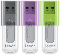 Lexar® JumpDrive® S50 8GB USB Flash Drive, 3 Pack