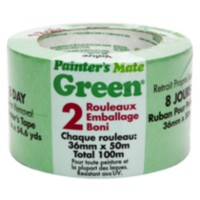 "Painter's Mate Green Masking Tape 1.5"" 2pk."
