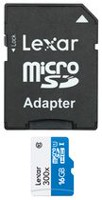Lexar® 16GB High-Performance microSDHC™ UHS-I cards (300x) With Adapter