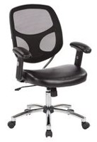 Work Smart Screen Back Task Chair with Black Faux Leather Seat