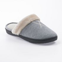 ISOspa by isotoner Women's Heathered Jersey Slide Slippers Grey 6.5-7
