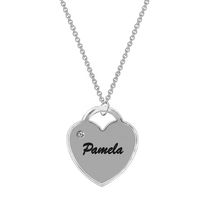Heart Engraved With Dia. Accent Charm