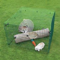 Rosewood Pet Deluxe Play Pen with Net Small Animal Kennel