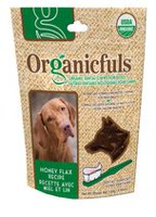 Organicfuls Honey Flax Recipe Organic Dental Chews for Dogs