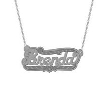 "Sterling Silver Personalized ""Brenda"" Double Nameplate"