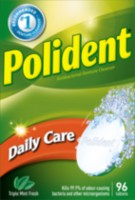 Polident Daily Care Antibacterial Triple Mint Fresh Denture Cleanser