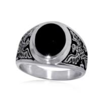 Sterling Silver Mens' Ring 9