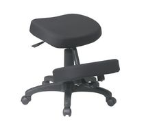 Office Star Work Smart Ergonomically Designed Knee Chair with 5 Star Base and Memory Foam